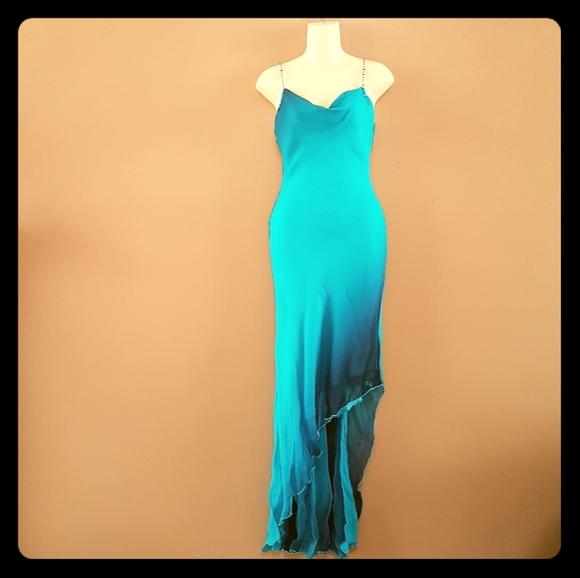 Beautiful blue ombre silk dress